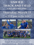 Unified Track Call Out Meeting – Thursday, March 11th