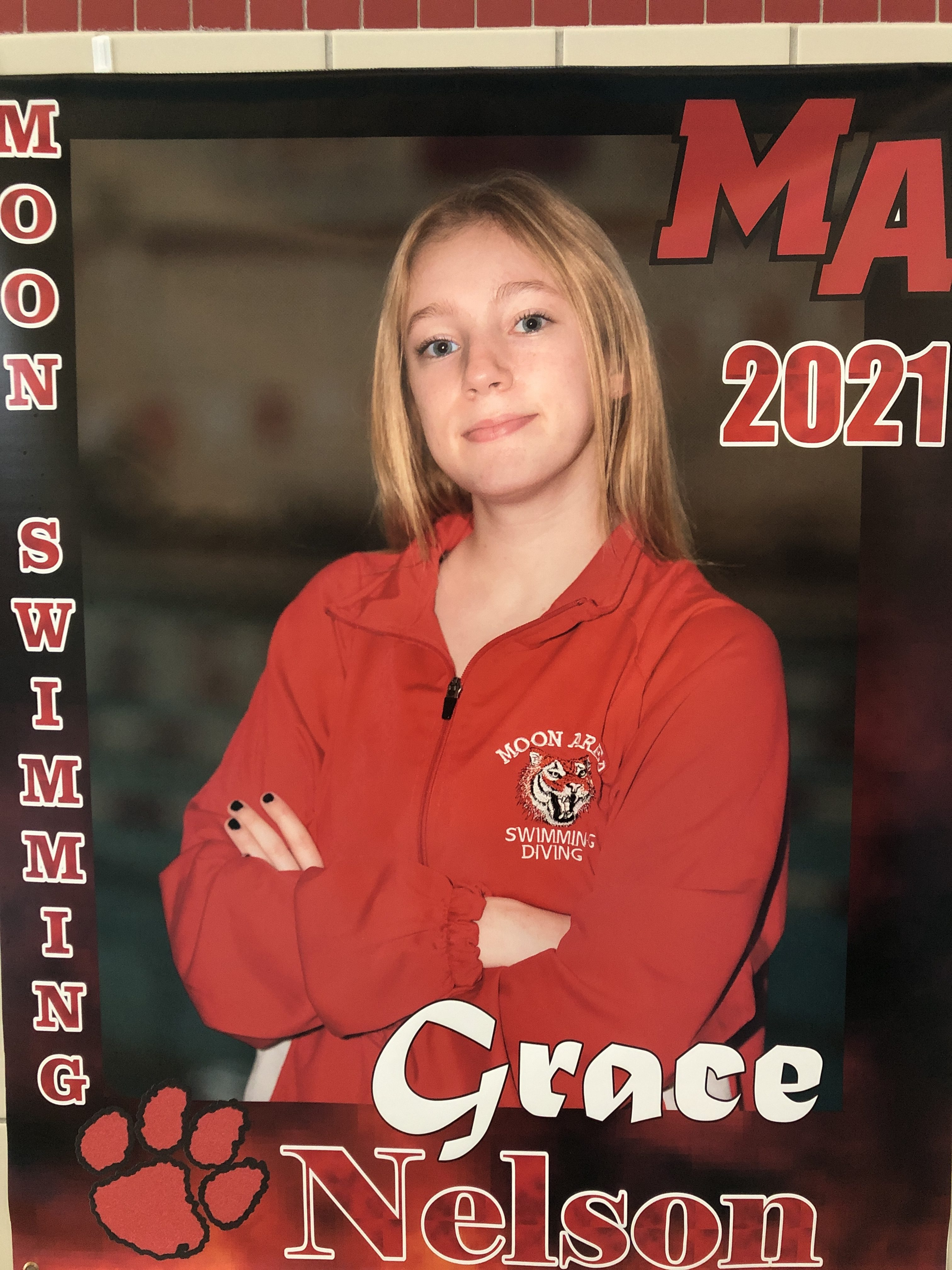 Grace Nelson Leads Dive Team With Her 9th Place Finish at WPIAL Diving Championships!