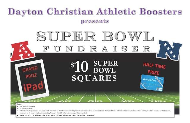 Athletic Booster Club Super Bowl 'Square' Fundraiser