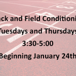 Track & Field Conditioning To Begin