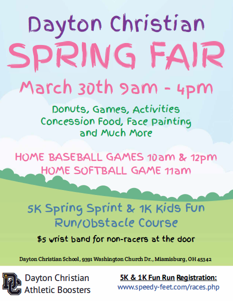 Athletic Booster Club to Host Spring Fair with 5k & 1k Fun Run on March 30
