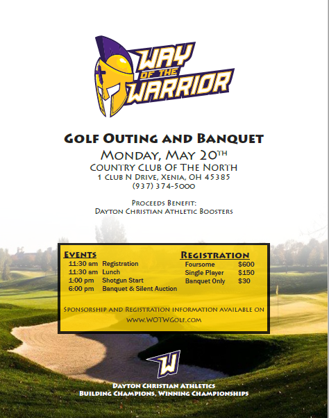 'Way of the Warrior' Golf Outing, Silent Auction and Banquet Set for May 20