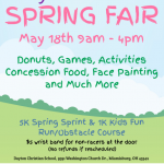 Make Plans to Attend the Spring Fair on May 18