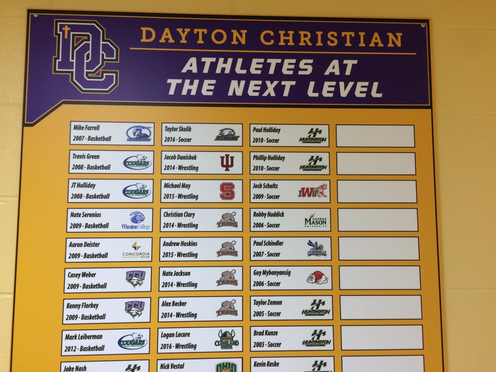 Dayton Christian Warriors at the Next Level