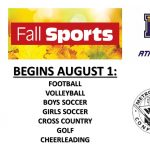 Fall Sports Season Begins August 1