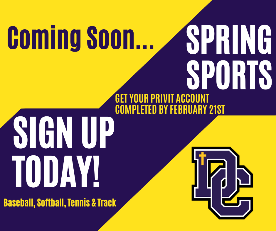 Spring Sports Season Coming Soon… Pre-Season Information