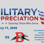 Military Appreciation Night Set for Saturday, January 11