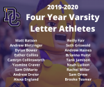 2019-2020 Athletic Awards: Four Year Varsity Athletes