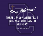 2019-2020 Athletic Awards: Three Season Athletes & Iron Warrior Awards
