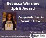 2019-2020 Athletic Awards: Rebecca Winslow Spirit Award