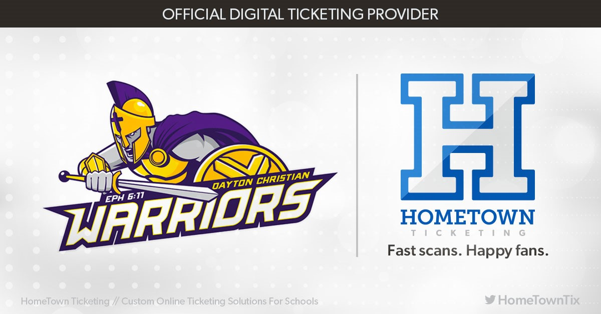 Dayton Christian Athletics announce partnership with Hometown Ticketing