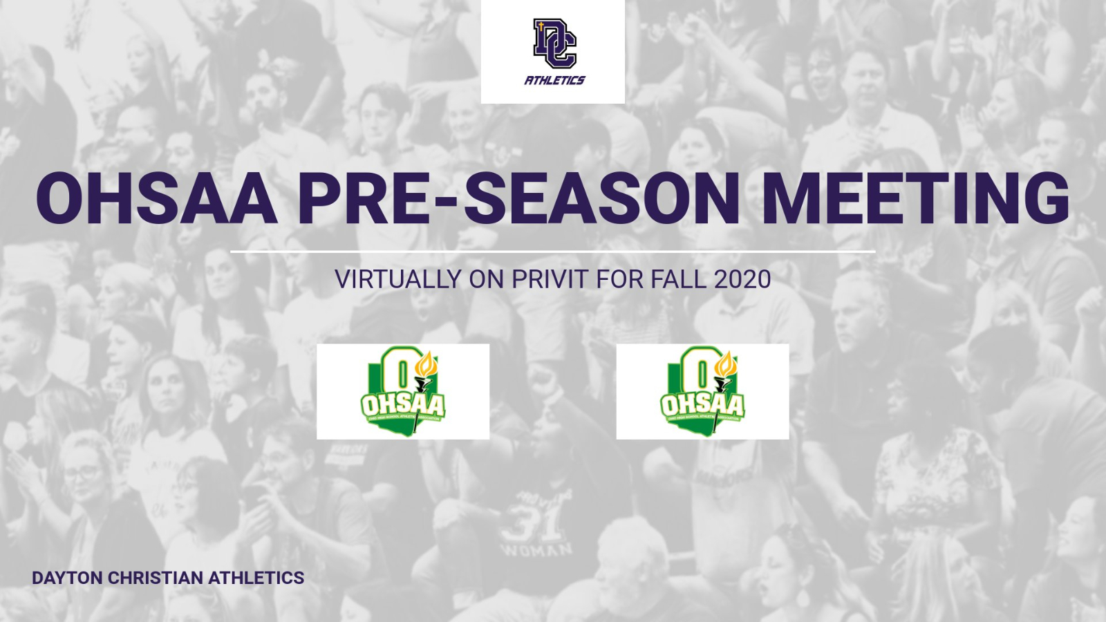 Required OHSAA Fall-Sports Pre-Season Meeting