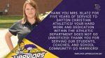 Employee Appreciation Day: Kristin Blatz, Athletic Assistant