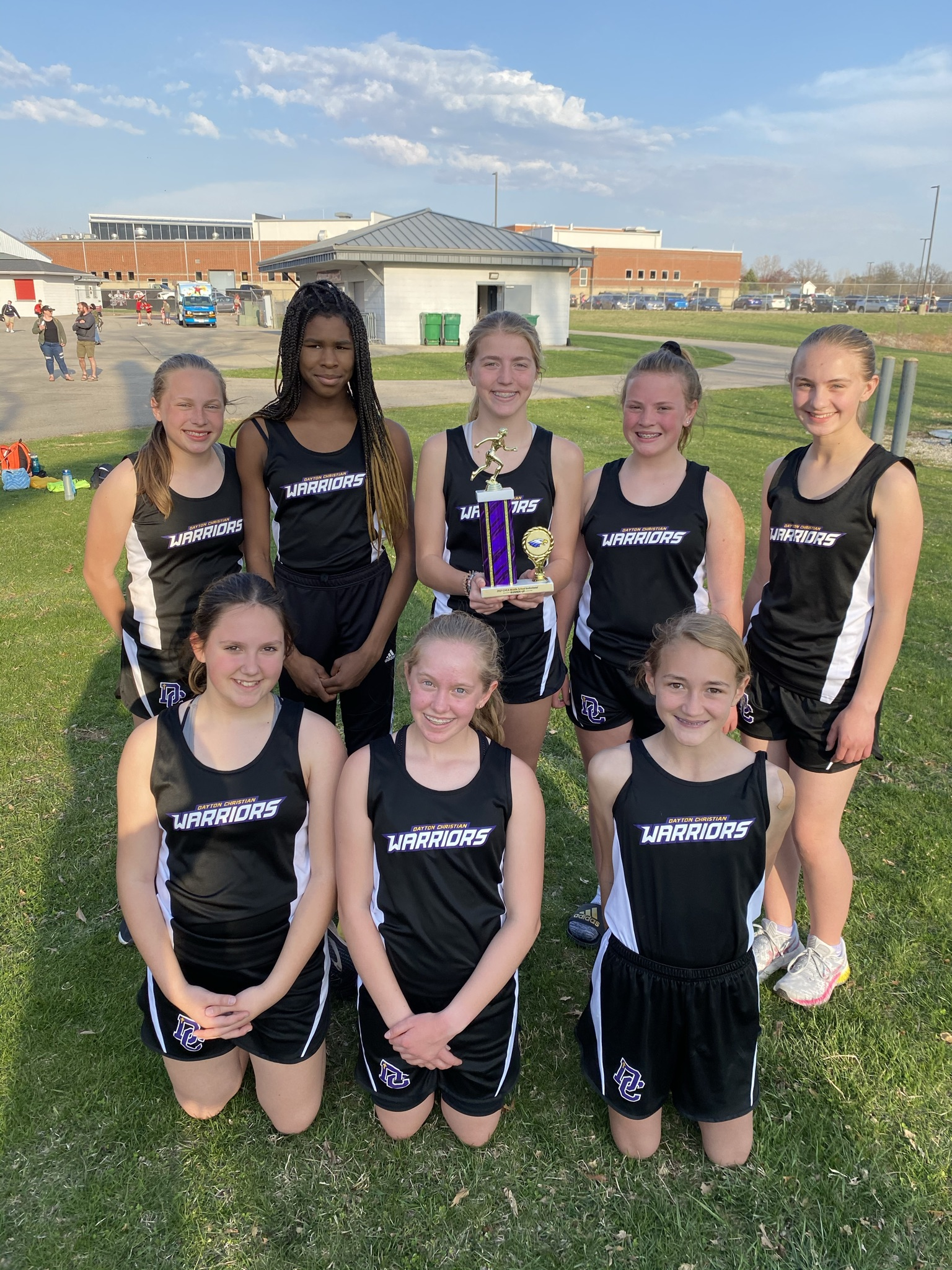 Middle School Boys and Girls Track comes in 2nd at Tecumseh Quad meet