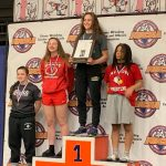 Sydney Manos places 2nd at the 2019 IWOCA Girls State Wrestling Tournament
