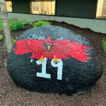 """Hailey Taylor paints """"The Rock""""at SVHS"""