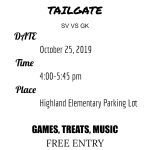SVHS Students: Tailgate Gathering before Friday's Game