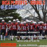 Football: 2nd Round Playoff Football Game @ IC Catholic