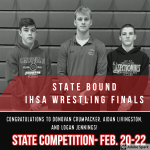 WRESTLING: 3 Wrestlers advance to the IHSA State Finals