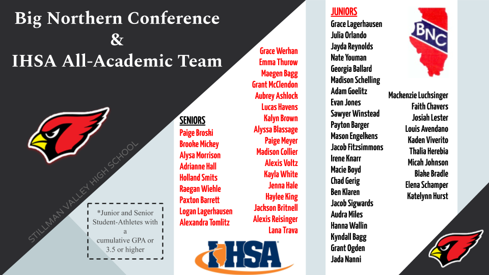 BNC and IHSA Academic Achievement Awards Announced