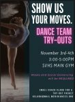SVHS Dance Team Tryouts – Nov. 3 & 4