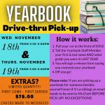 Yearbook Pick-Up Nov. 18 & 19 – Drive-Thru Pick-up