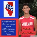 Sal Salas-Godinez named to the All Conference Cross Country Team