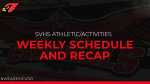 April 4-9 SVHS Athletic/Activities Dept. Weekly Preview and Schedule of Events