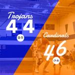 Girls Varsity Basketball falls to Onaway 46 – 44
