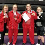Girls Varsity Wrestling finishes 3rd place at Baldwin tournament