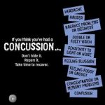 Concussions…know the symptoms