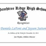 Athletes of the week – 11/10/2014