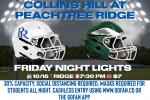 Peachtree Ridge Hosts Collins Hill 10/16
