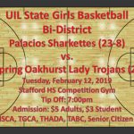 Sharkettes Basketball Bi-District Game Information