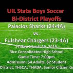 Shark Soccer Bi-District Game Information