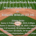Shark Baseball Regional Quarterfinal Game Information
