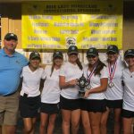 Girls Varsity Golf finishes 1st place at Wren Lady Hurricane Invitational