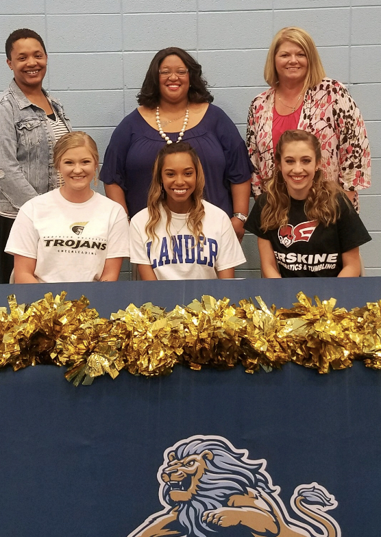 Three D.W. Daniel Cheer Leaders Sign Letters of Intent