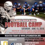 2019 Daniel High Alumni Football Camp