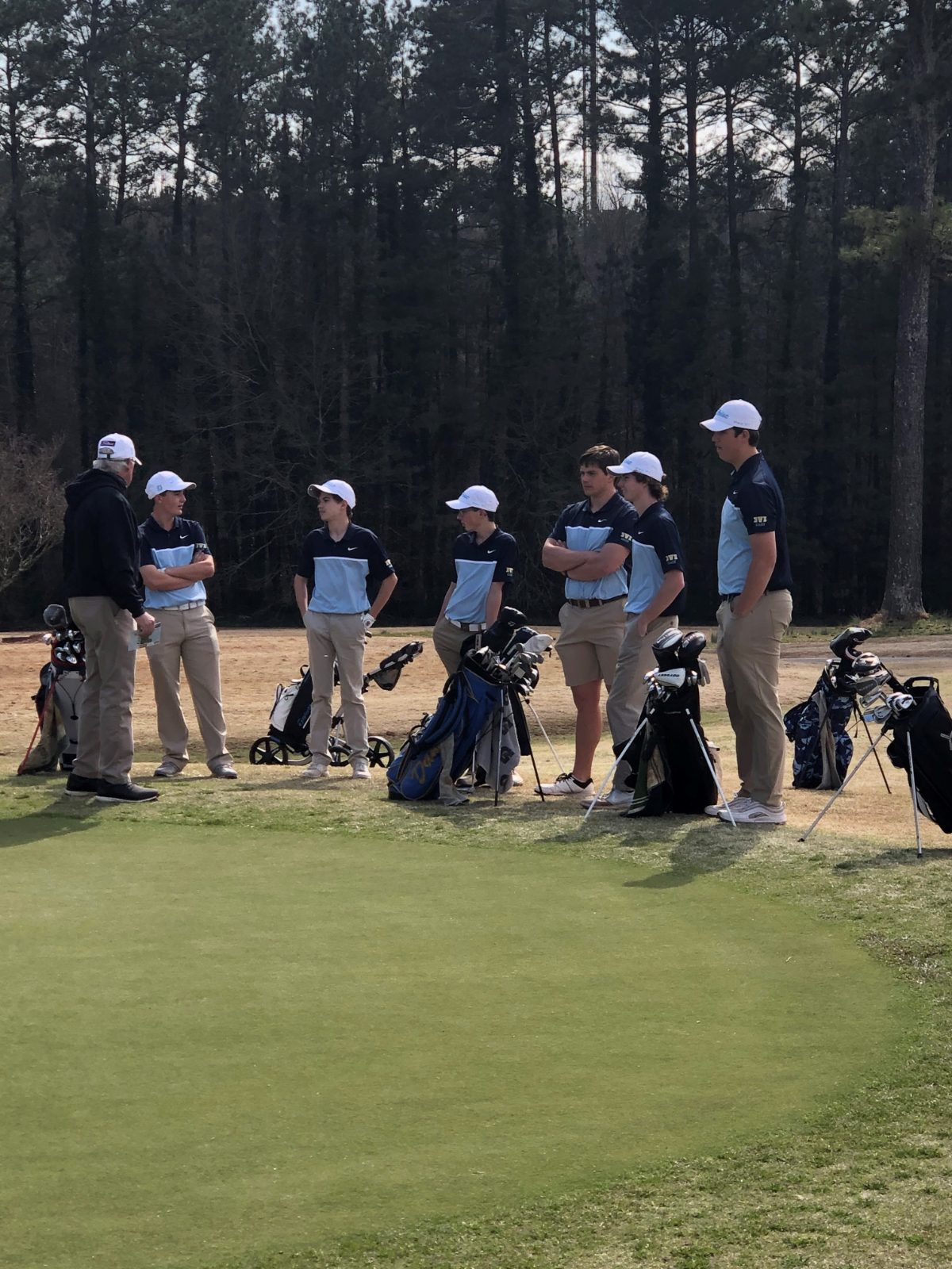 Boys Golf at Trimatch with West Oak and Seneca