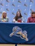 Student athlete signing celebration