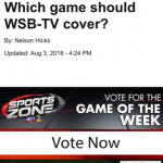WSB-TV Game Of The Week Voting