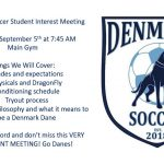 Denmark Soccer Player Interest Meeting