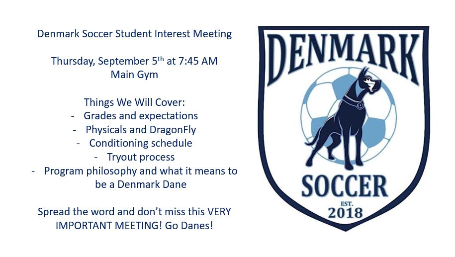 Denmark Soccer Player Interest Meeting