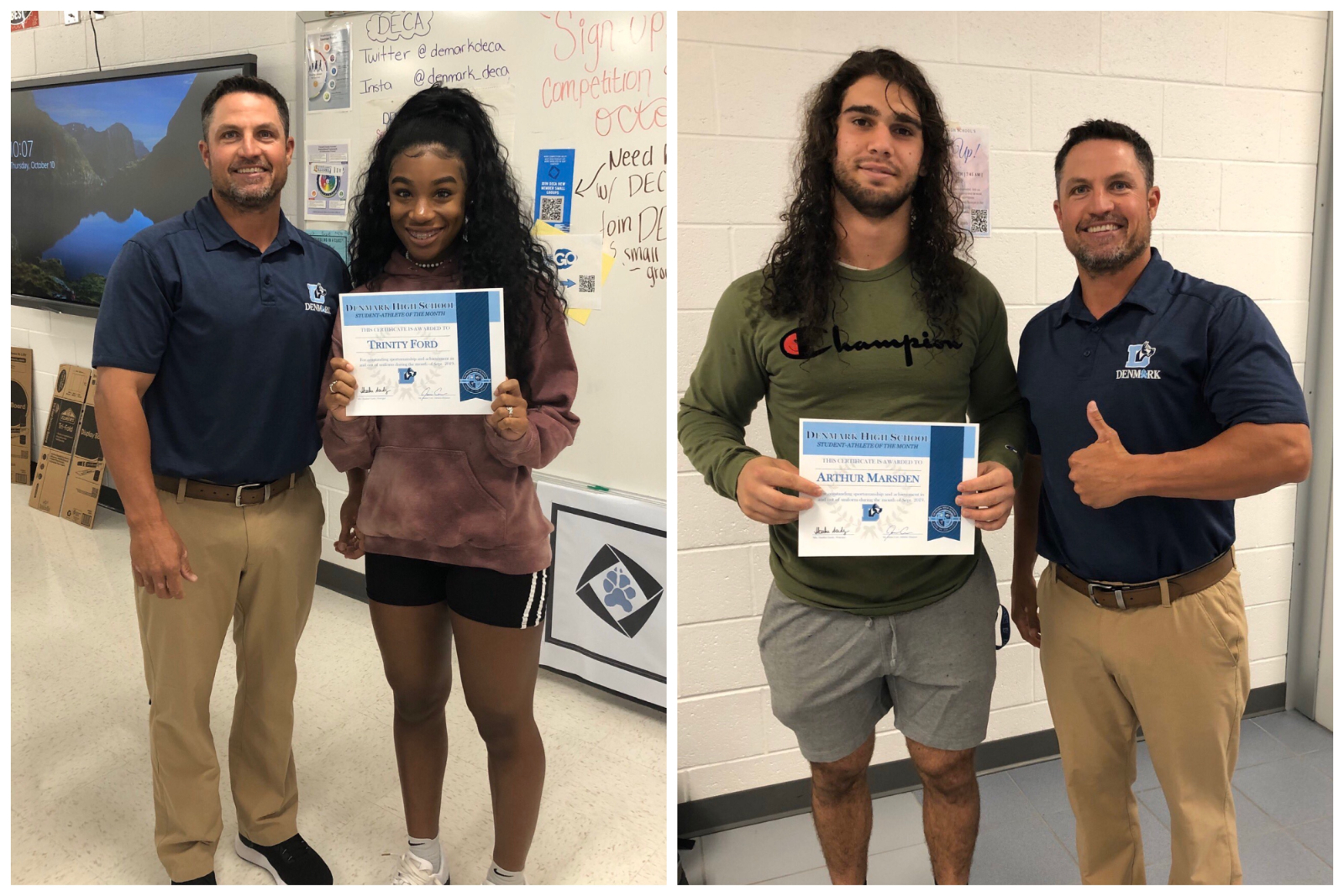 Student-Athletes of the Month – September