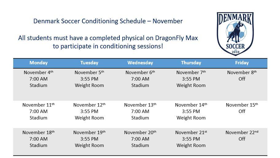 Soccer Conditioning – November
