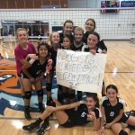 Middle School Volleyball Wins 2-0 over Poplar Grove