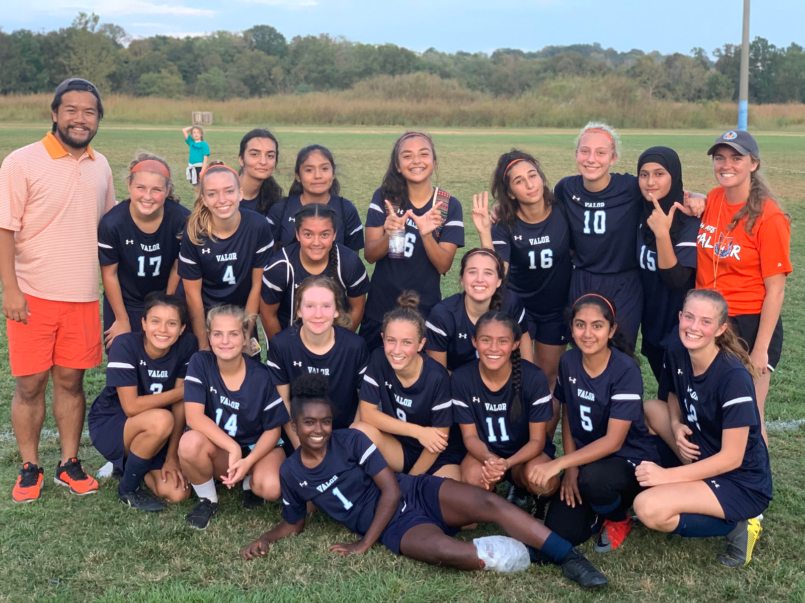 High School Girls Soccer wins Orange Out Game 9-0 over KIPP