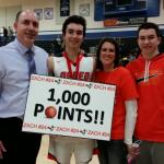Zach Theisen Reaches 1000 Point Milestone