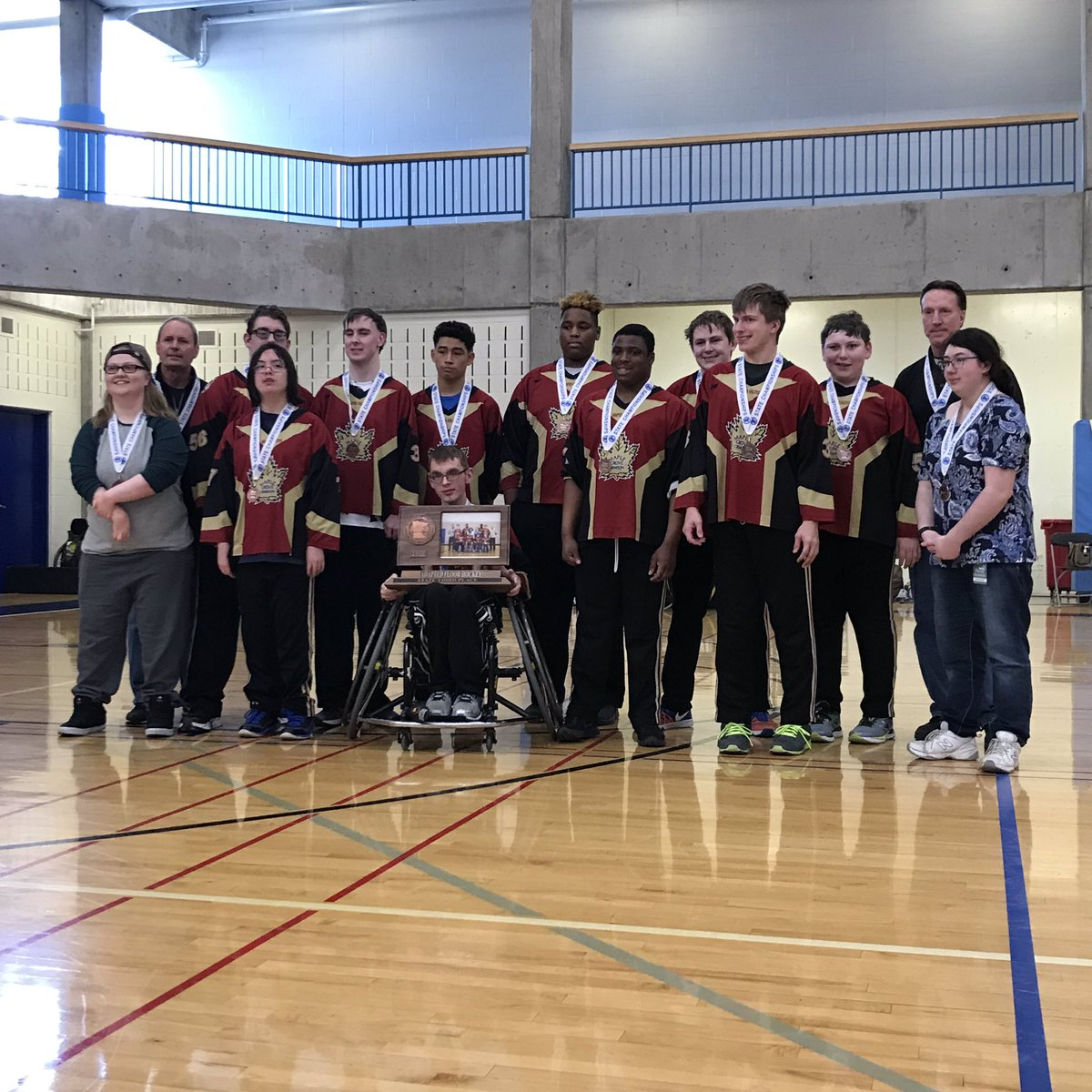 Adapted Hockey Takes Third in State